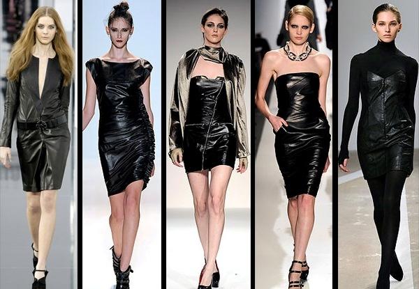 Модные тендеции - кожаные платья