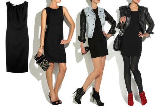 с чем носить короткое черное платье
