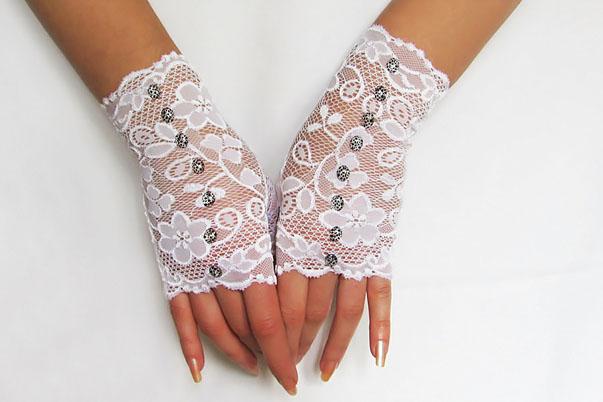 митенки - свадебные перчатки без пальцев