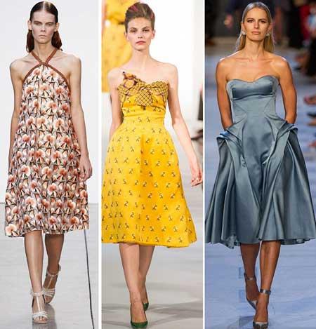 Летние платья с оголенными плечами