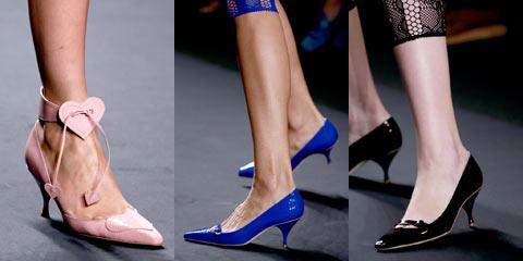 Модные туфли на каблуке 2015