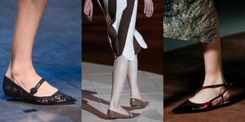 Модные туфли без каблука 2016