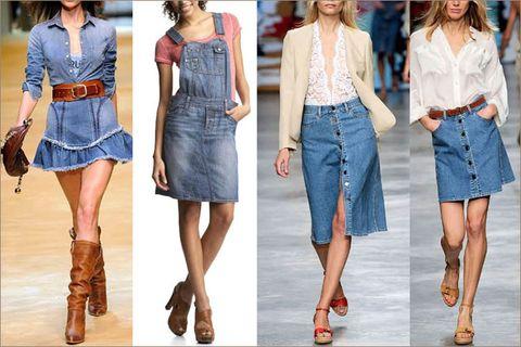 Юбка джинсовая со вставкой