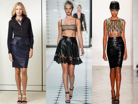 какие кожаные юбки в моде 2016