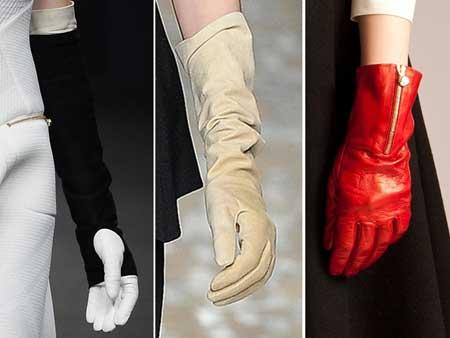 Длина модных перчаток 2016