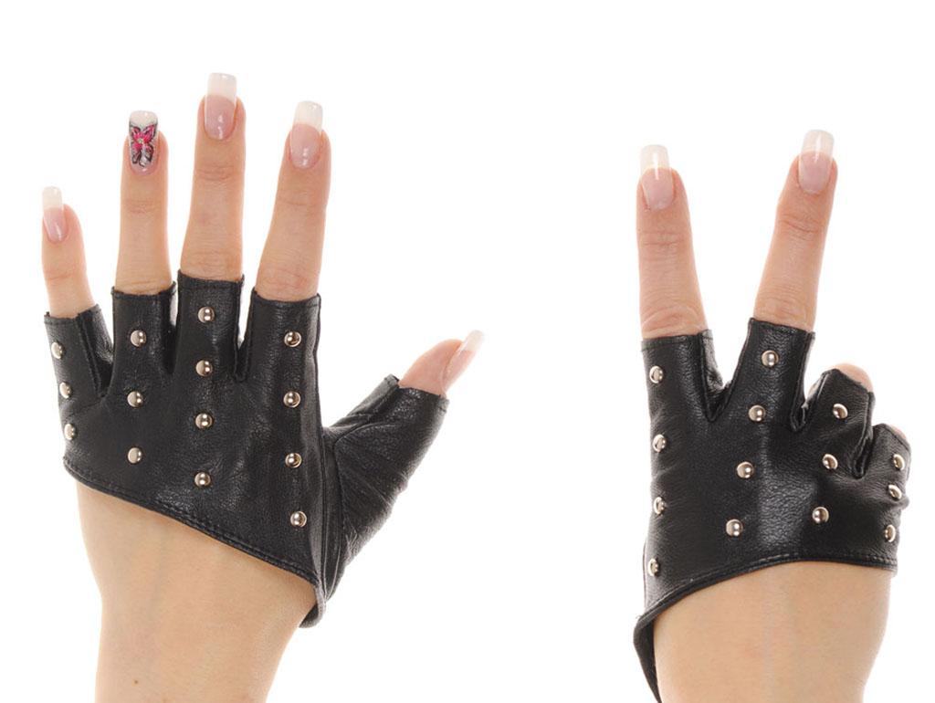 Модные перчатки-митенки