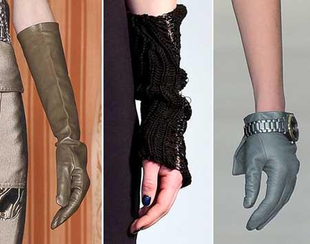 Металлический декор в перчатках 2016