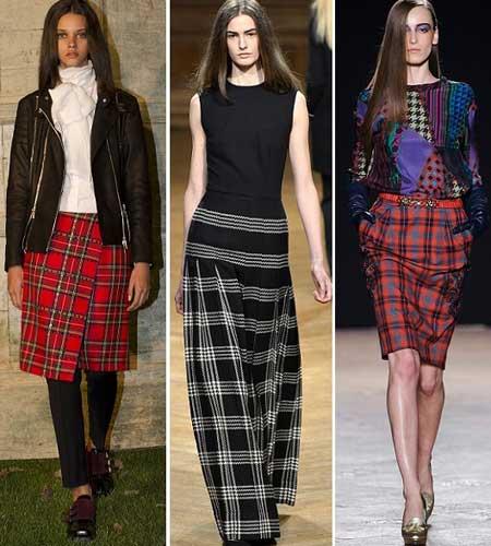 Модная юбка из шерсти