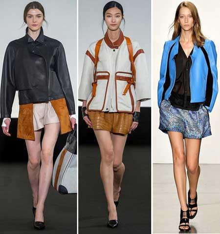 Трендовые элементы кроя на кожаных куртках