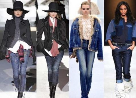 Классический крой в женских джинсах