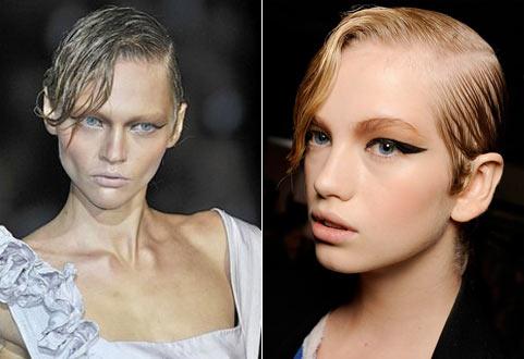 Прическа 2016: эффект мокрых волос-2
