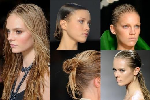 Прическа 2016: эффект мокрых волос-3