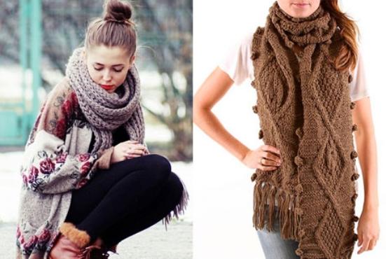 модные шарфы 2015 2016
