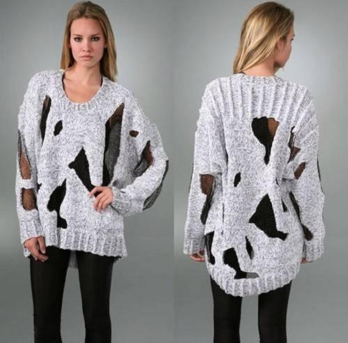 Модные пуловеры своими руками