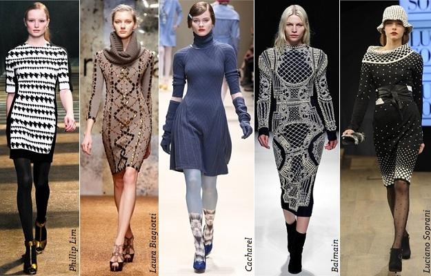 Модные и красивые вязаные платья фото