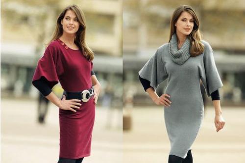 Модные и красивые вязаные платья фото - 4