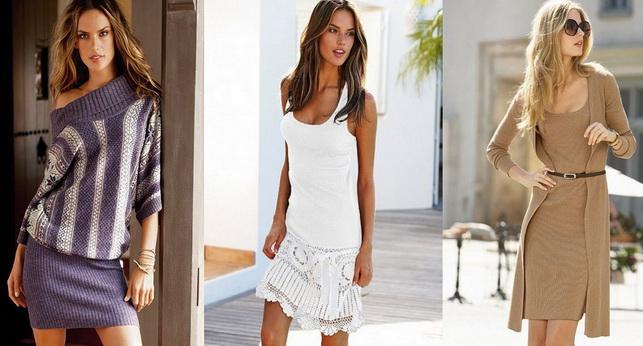 Модные и красивые вязаные платья фото - 5