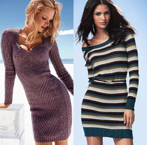 Короткие вязаные платья от Victoria's Secret - 1