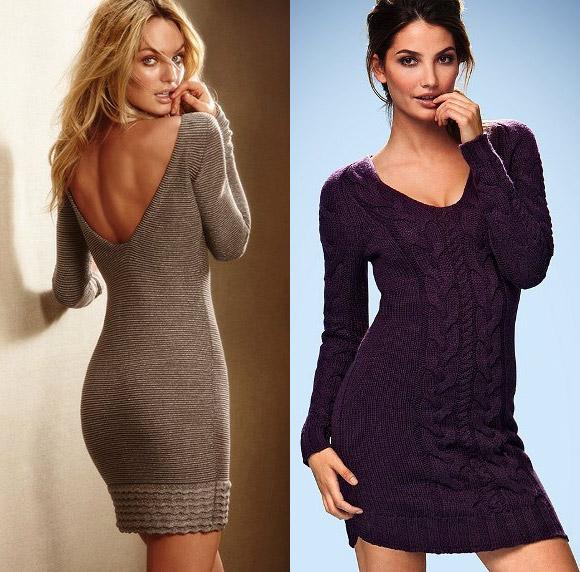 Короткие вязаные платья от Victoria's Secret - 2