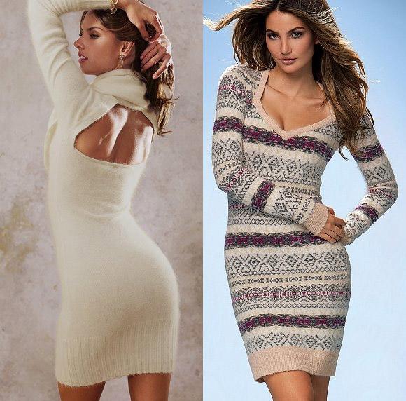 Короткие вязаные платья от Victoria's Secret - 3
