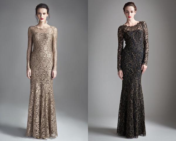 Длинные кружевные платья