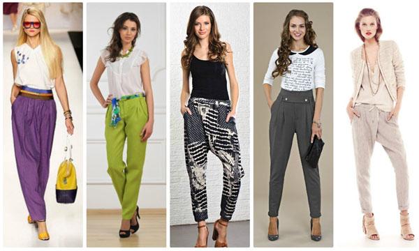 Принты и цветовая гамма модных брюк