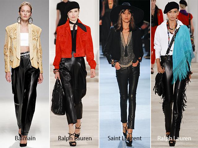 Кожаные брюки 2016