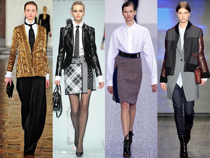 Двубортные пиджаки в женских костюмах 2016