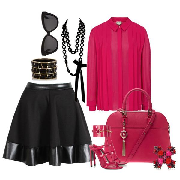 с чем носить черную юбку