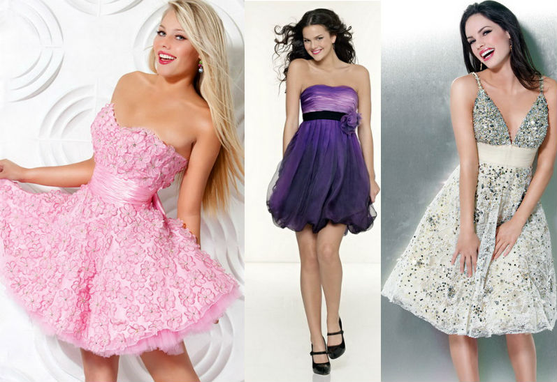 Короткие пышные платья как сшить