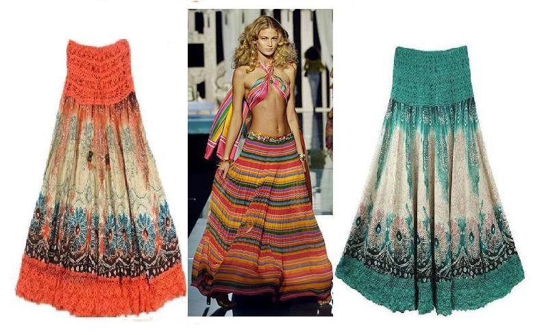 Длинные пляжные юбки 2016