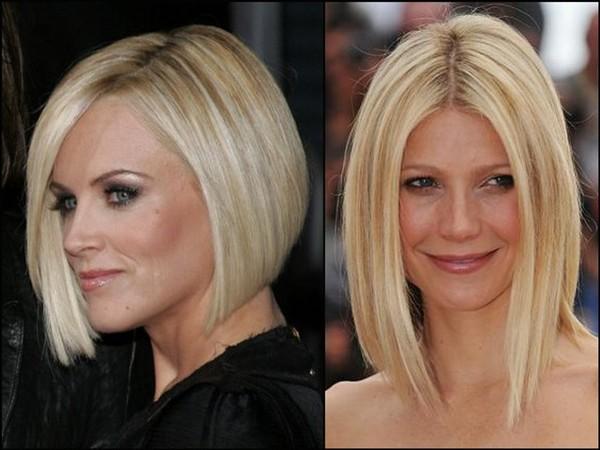 стрижки на средние волосы без челки