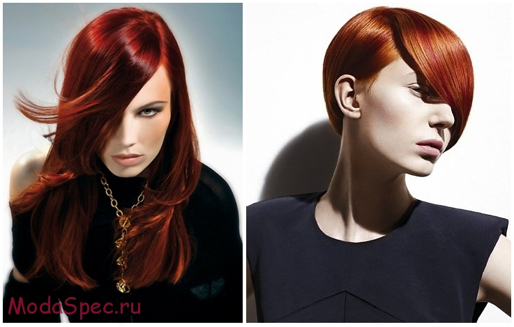 модные рыжие цвета (оттенки) волос 2017