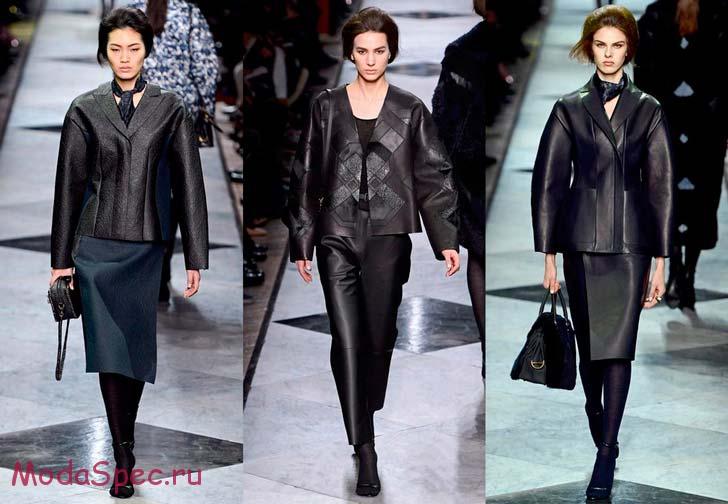 женские кожаные куртки осень 2015
