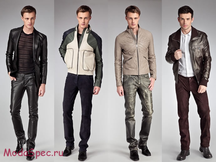 мужские кожаные куртки осень 2015