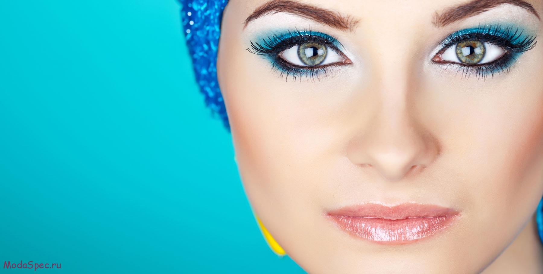 Свадебный макияж в синих