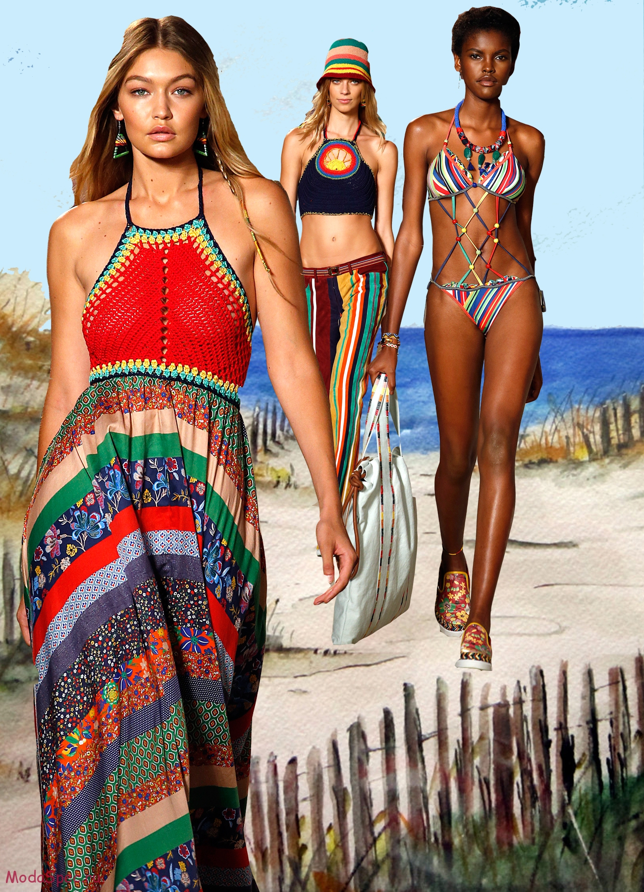 Женская пляжная мода фото