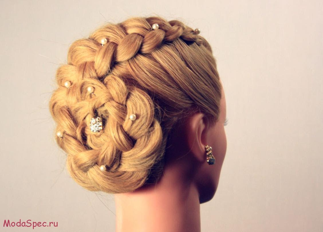 Прически плетение на длинные волосы