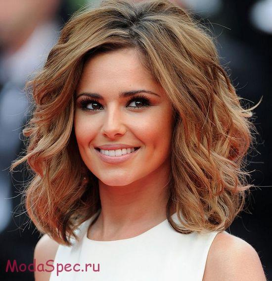 Фото прически на средние волосы (100 примеров) Женские прически 11